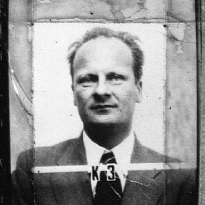 Hans Bethe's ID badge at Los Alamos