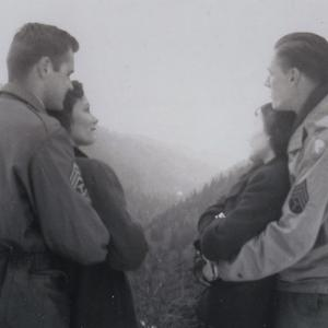 Lawrence S. O'Rourke (L) and William E. Tewes and his wife, Olive (R). Photo courtesy of the Lawrence S. O'Rourke Collection, AHF.