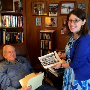 Jack Widowsky with Alexandra Levy from AHF on the day of his interview.
