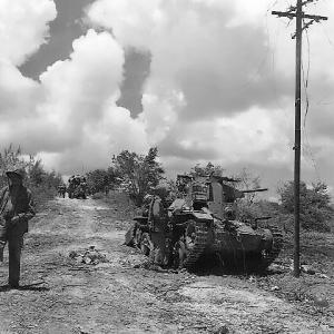 Japanese Tank knocked out of action on Tinian