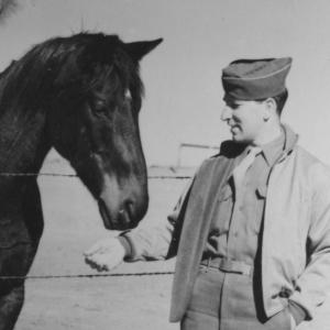 Jesse Kupferberg with Oppie's Horse at Los Alamos