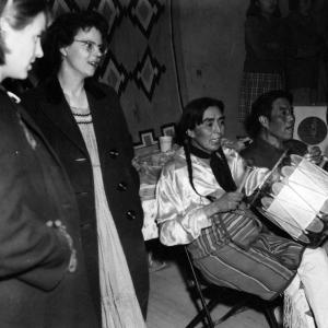 Music at a Pueblo gathering. Photo courtesy of the Robert JS Brown collection.