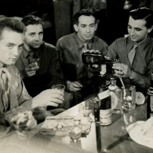 Larry drinking with the boys