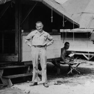 William Laurence with Jesse Kupferberg on Tinian