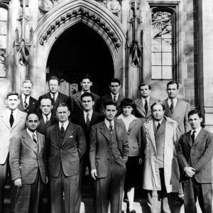 Chicago Pile-1 reunion, December 2, 1946. Photo courtesy of the University of Chicago Photographic Archive, [apf3-00232], Special Collections Research Center, University of Chicago Library.