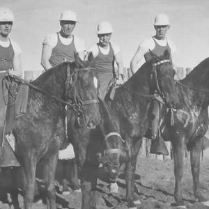Military Police polo team at Los Alamos, 1944