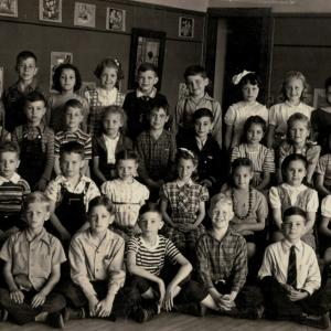Philip S. Anderson, Jr. in 2nd grade class, Omaha, NE, 1942