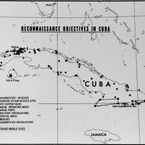 "CIA map of ""reconnaissance objectives in Cuba,"" October 5, 1962"