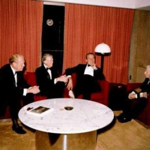 President Gerald Ford, President Jimmy Carter, President Richard Nixon, and Admiral Hyman Rickover, 1983.