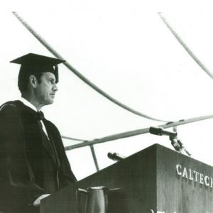 Robert Christy at the California Institute of Technology. He briefly served as the acting president here from 1978 to 1979.