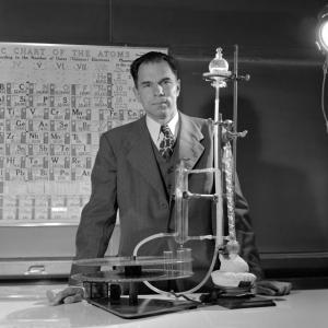 Glenn Seaborg in his lab