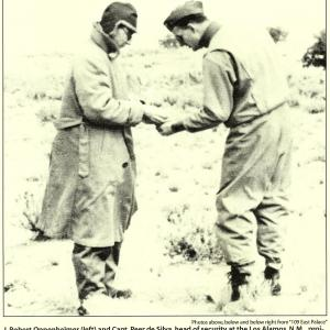 1944, Selecting the Trinity Site with Oppenheimer. Chicago Tribune.
