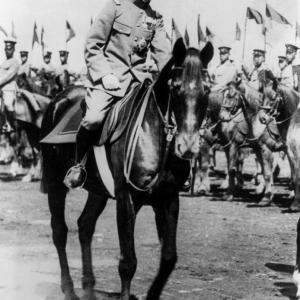 Hirohito on horseback, around the time of his coronation