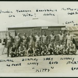 A group photograph of soldiers at Trinity. Photo courtesy of Willie Atencio and David Schiferl.