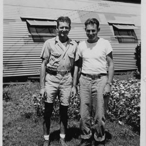 Abe Spitzer on Tinian in 1945