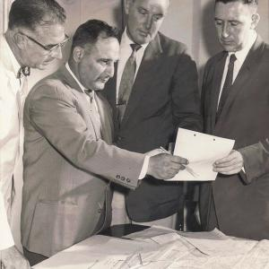 Uanna with colleagues at the State Department 1958