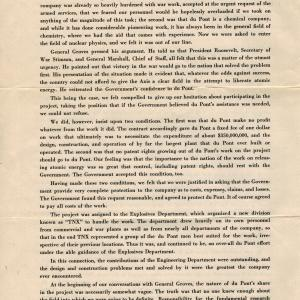 DuPont booklet on its Manhattan Project work, page 2