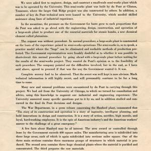 DuPont booklet on its Manhattan Project work, page 3
