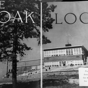 Cover of the Oak Ridge High School yearbook, 1945.