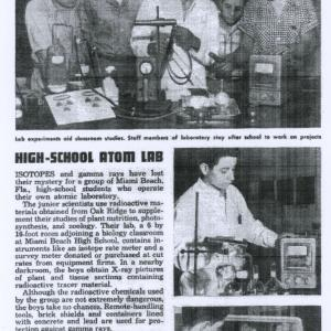 A 1955 Popular Mechanics article about Yulish and his high school nuclear club