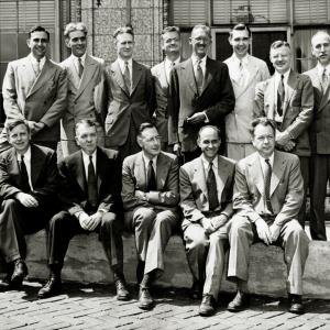 Atomic Research Scientists at the Opening of the University of Chicago's Institute of Nuclear Studies and the Institute for the Study of Metals.