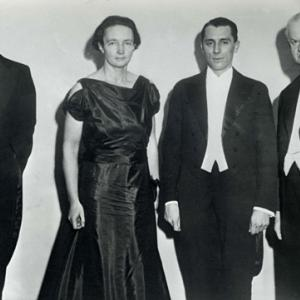 Irene and Frederic Joliot-Curie at their Nobel Prize ceremony. Photo courtesy Nobelprize.org