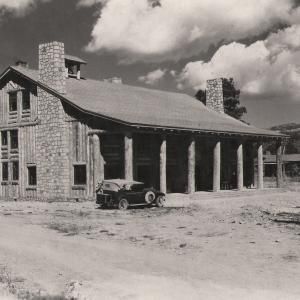 Fuller Lodge, built for the Los Alamos Ranch School in 1929