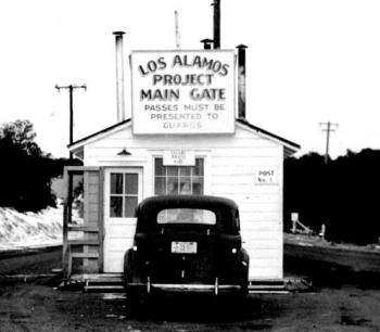 Front gate to the Los Alamos compound