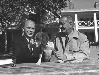 Don Hornig & LBJ. Photo courtesy of the LBJ Presidential Library.