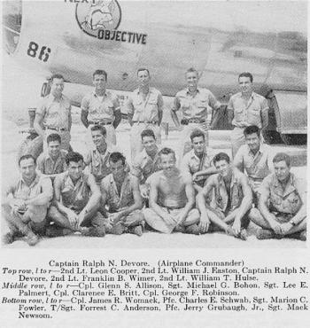 The crew of Next Objective, Hulse is picture on the top row at the far right