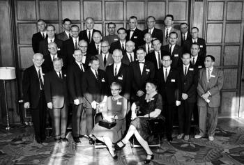William Hinch (second row, 4th from right) with Chicago Pile 1 Scientists at 20th Reunion. Photo Courtesy of University of Chicago Photographic Archive, [apf3-00242], Special Collections Research Center, University of Chicago Library.