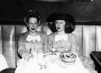 Esther Green (R) with a friend