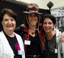 Colleen Black with AHF President Cindy Kelly and author Denise Kiernan