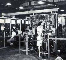 Lab technicians at work in the K-25 Plant