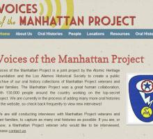 Voices of the Manhattan Project homepage