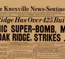 The Knoxville News-Sentinel on August 6, 1945