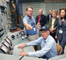Sec. of Interior Salazar visiting the B Reactor in Hanford in 2011. Photo courtesy of the Tri-City Herald