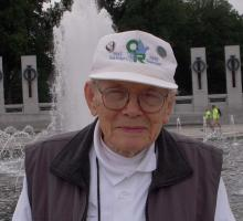 Ray Stein at the World War II Memorial