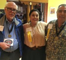 Left to right: David Schiferl, Dr. Patricia Trujillo, and Willie Atencio.