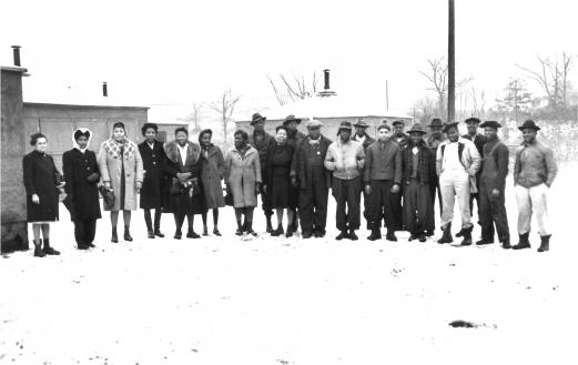 African-American workers at Oak Ridge in the 1940s. Photo courtesy of DOE Oak Ridge