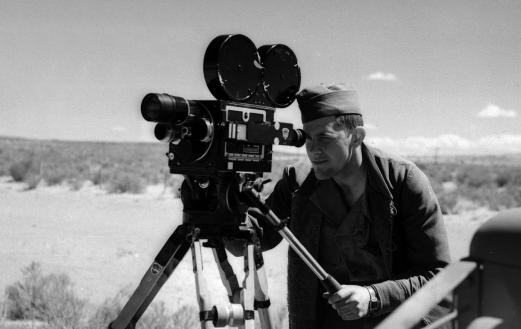 Camera work at the Trinity Site in 1945