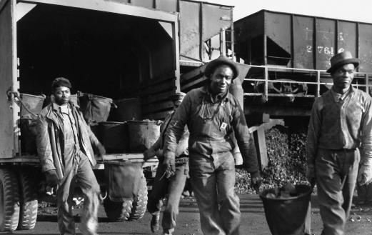 African-American workers at Oak Ridge in 1945 during the Manhattan Project. Photo courtesy of DOE-Oak Ridge