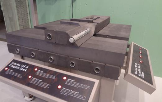 The graphite display at the B Reactor