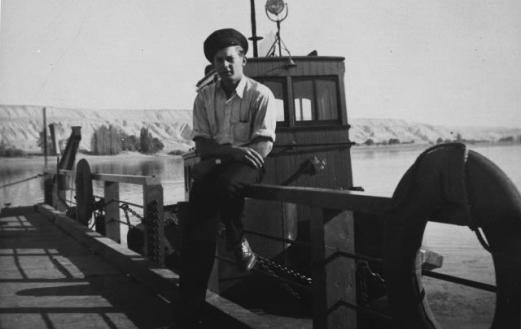 Ferry captain at Hanford, 1938