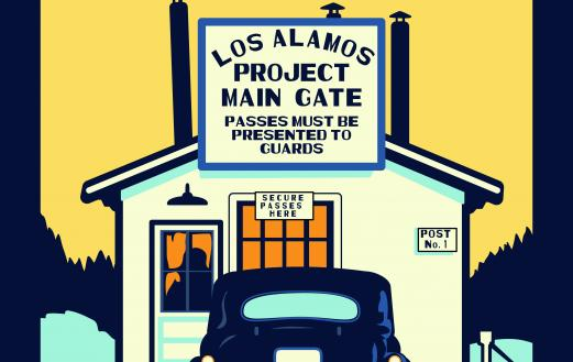 Los Alamos Main Gate poster by AHF