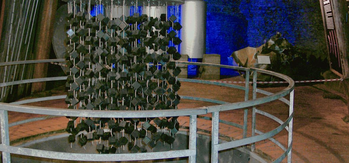 A replica of the German experimental nuclear pile at Haigerloch. Photo courtesy of ArtMechanic, Wikimedia Commons.