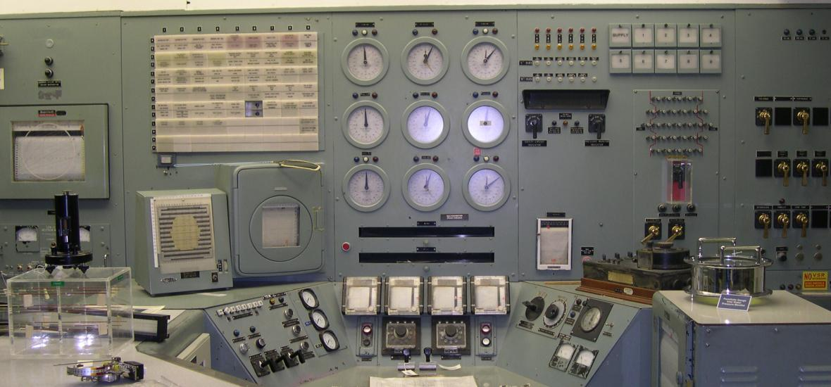 The Control Panel at B Reactor